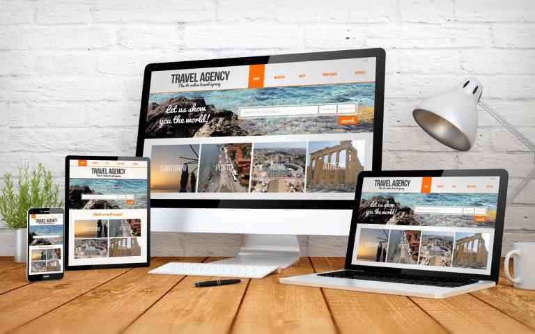 desktop, mobile, tablett webseite, responsives webdesign